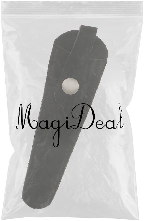 MagiDeal Bolsa Funda Durable de Cuero Artificial Almacenamiento de Tijeras de Corte de Pelo Negro