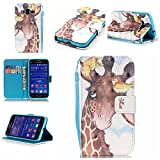 Galaxy Core Prime Case,IVY [Giraffe][3D Visual Effect][Strap Kickstand Case][PU Leather Wallet] For Samsung - Best Reviews Guide