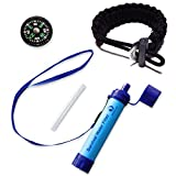 Water Filter Straw – Paracord Survival Bracelet – Compass – Best Survival Kit for Hiking, Prepping, Bug Out Bags, and Travel …