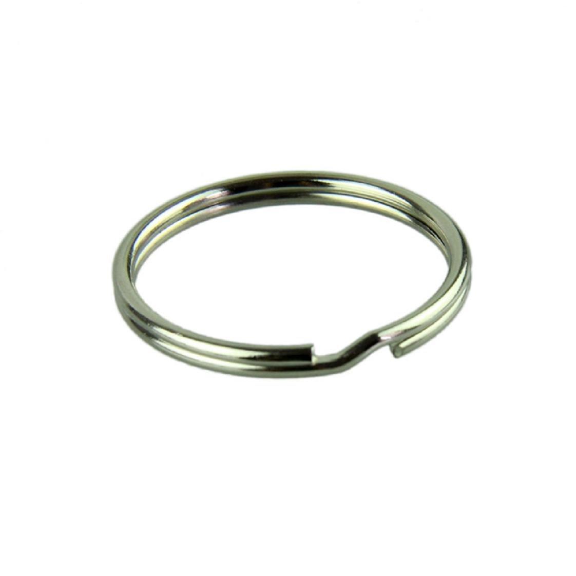 37df5de431 Amazon.com: Mchoice 50pcs KeyRing Kay Chain 25mm Round Split Key Rings  Keychain With Nickel: Clothing