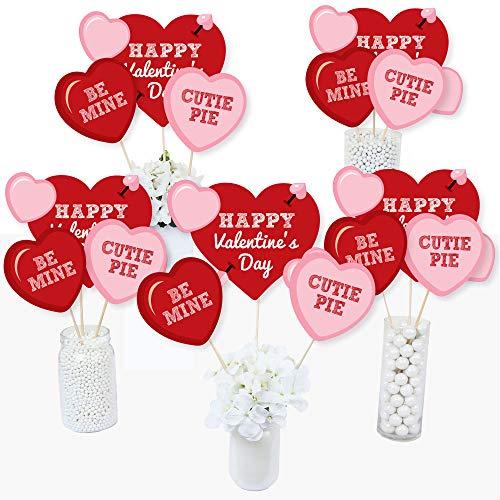 Conversation Hearts - Valentine's Day Party Centerpiece Sticks