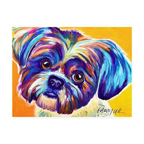 (Trademark Fine Art Shih Tzu Lacey by DawgArt, 24x32,)