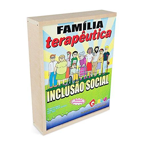 Família Terapêutica Inclusão Social 10 Personagens Caixa MDF Carlu Brinquedos