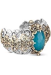 Carolyn Pollack Sterling Silver Blue Quartzite Doublet Cuff