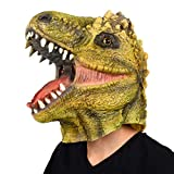 Finalshow Dinosaur Mask Halloween T-Rex Costume Party Animal Head Unisex-Adult, One Size