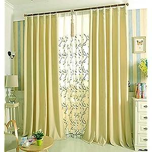 Gardine Verdunkelungsgardin Vorhang mit Kräuselband Thermo-blickdicht Schal Grün