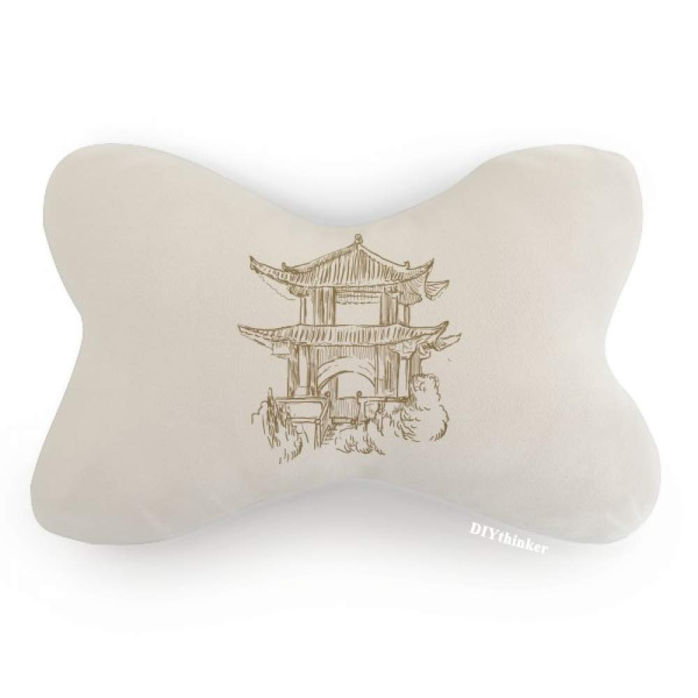 DIYthinker China Landmark Wood Sketch Car Neck Pillow Headrest Support Cushion Pad by DIYthinker (Image #1)