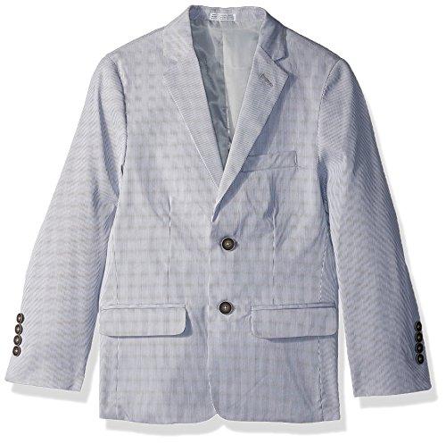 Calvin Klein Big Boys' Blazer Jacket, Silver Pincord, 14 (Calvin Klein Cotton Blazer)