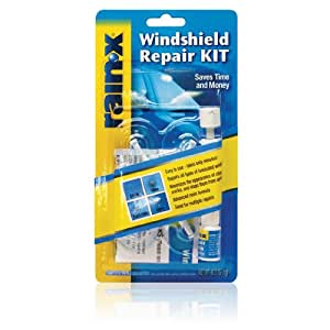 Windshield Glass Repair Kit >> Rainx Fix A Windshield Do It Yourself Windshield Repair Kit For Chips Cracks Bulll S Eyes And Stars