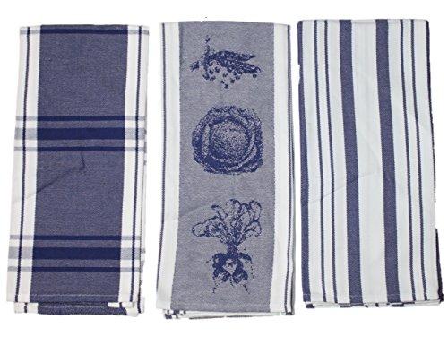 Martha Stewart Collection Jacquard Set of 3 Kitchen Towels ...
