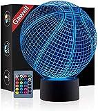 Basketball 3D Illusion Birthday Gift Lamp , Gawell