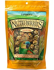 LAFEBER'S Garden Veggie Nutri-Berries Pet Bird Food, Made with Non-GMO and Human-Grade Ingredients, for Parrots, 10 oz