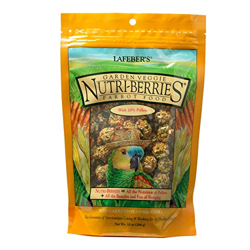 Lafeber's Gourmet Garden Veggie Nutri-Berries for Parrots 10 oz - Bird Conure Green Cheeked