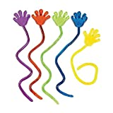 "Adorox 72 Pieces Vinyl Glitter Sticky Hands Party Favor Birthday Gifts Toys Goodies (1 1/4"" Long )"