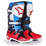 Alpinestars Tech 10 Limited Edition 'BOMBER' Boots - Red Aqua Anthracite White (9)