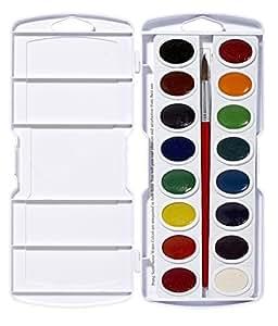 Prang Watercolor Paint Cakes 16/Pkg-Assorted Colors