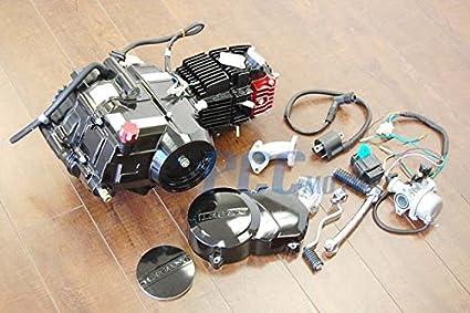 Amazon.com: LIFAN 125CC SEMI AUTO 4-speed, manual clutch, 4 up Motor ...
