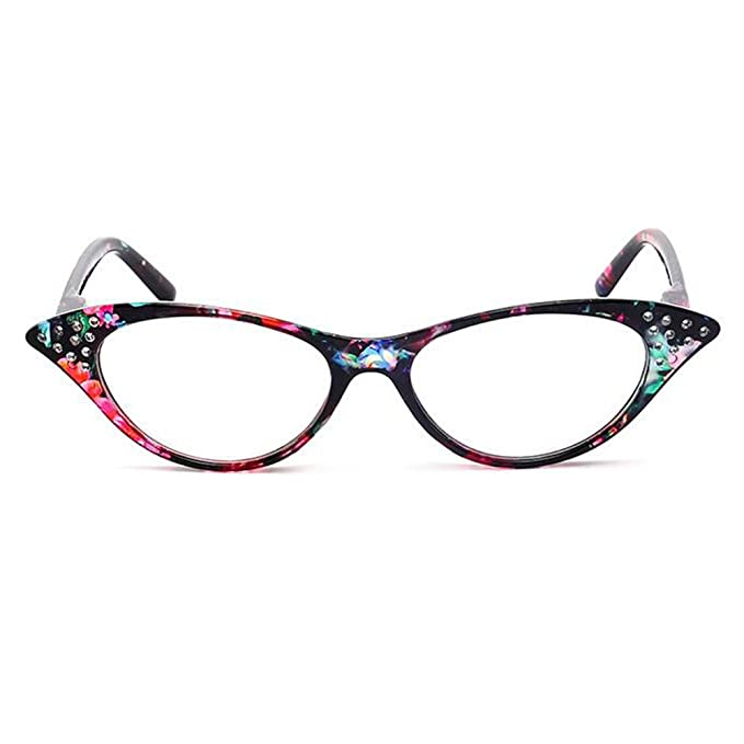 a0ed4a17355 Inlefen Vintage Cateye Magnification Reading Readers EyeGlasses with  Rhinestones  Amazon.ca  Clothing   Accessories