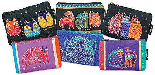 laurel-burch-cosmetic-bag-zipper-top-assorted-feline-prints