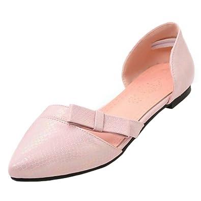 3bb6111a4bc00 COOLCEPT Damen D orsay Sandalen Spitze Zehe Schuhe Flach Pink Gr 33 Asian