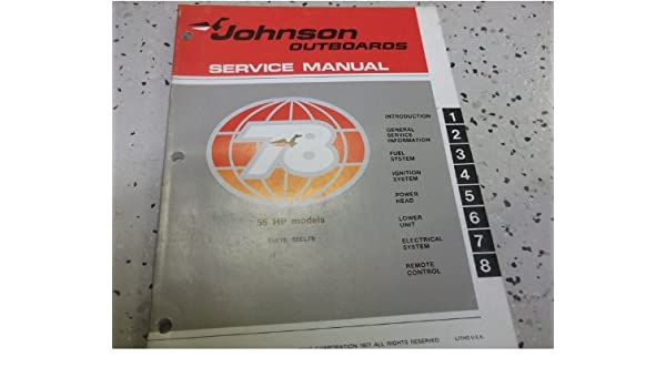 1978 Johnson Outboards 55 HP MODELS Service Shop Repair