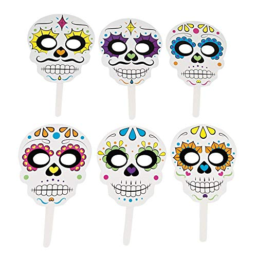 Fun Express Day The Dead Handheld Masks (Muertos De Mask Los Dia)
