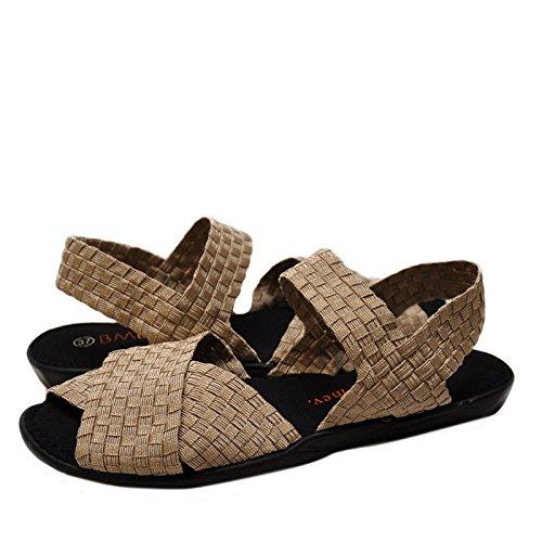 Bernie Mev. Sandalo Incrociato Con Cinturino Incrociato Color Oro / Crema