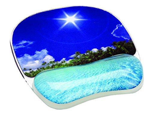 Fellowes Foto Gel Tropischer Strand-Motiv Handgelenkauflage mit Mauspad