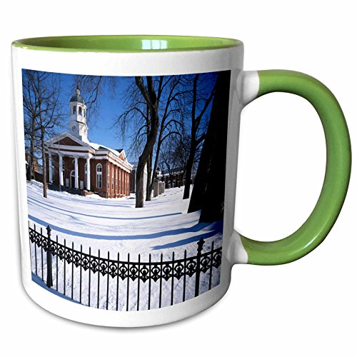 3dRose Danita Delimont - Charles Gurche - Courthouse - USA, Virginia, Leesburg, Loudoun County Courthouse. - 11oz Two-Tone Green Mug - Leesburg Outlet