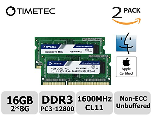 Timetec Hynix IC Apple 8GB Kit (2x4GB) DDR3 1600MHz for sale  Delivered anywhere in USA