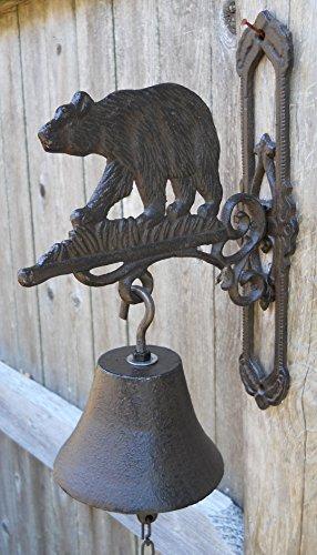 Cast Iron Hanging Bear Bell (Cast Iron Dinner Bell)