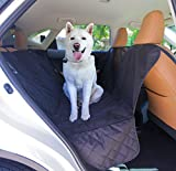 Happy Pets Pet Car Back Seat Cover Car Waterproof Hammock with Dog Seat Belt Anchors Side Straps and Flaps with Rear View for Large Animals Auto Back Seat Protector Strong Buckles Washable in Machine For Sale