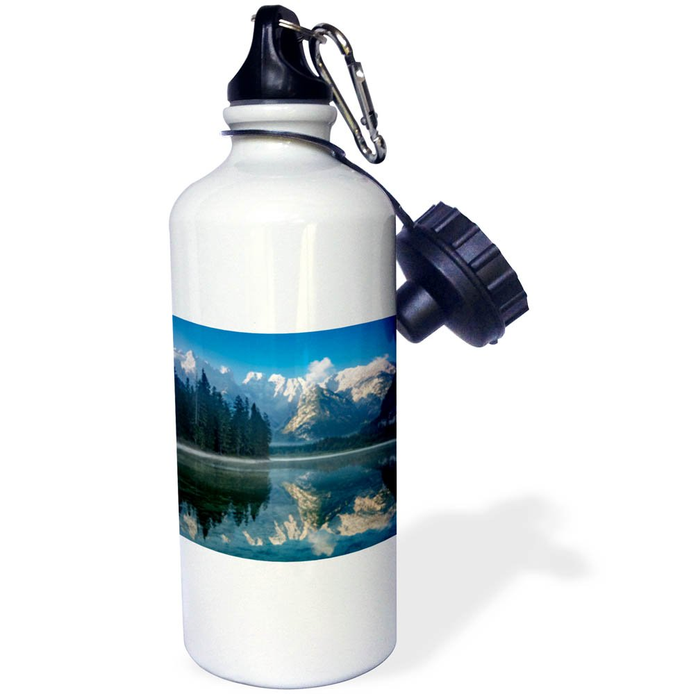 3dRose Danita Delimont - Lakes - Monte Cristallo and the Dolomites reflected in a lake, Belluno, Italy - 21 oz Sports Water Bottle (wb_277560_1)