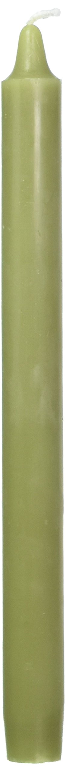 Zest Candle 12-Piece Taper Candles, 10-Inch, Sage Green Straight