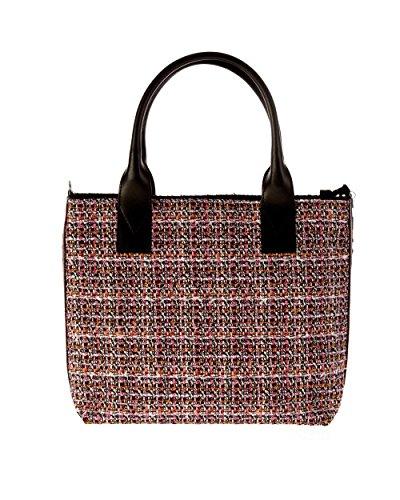 PINKO BAG aguglia shopping piccola 1h20e1/y4cuzn8/mult. nero rosa/a8e Taglia uni primavera/estate