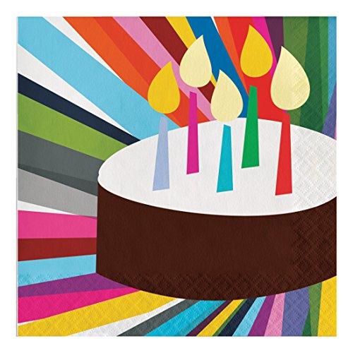 Creative Converting 322122 3-Ply Luncheon Napkins Birthday Cake
