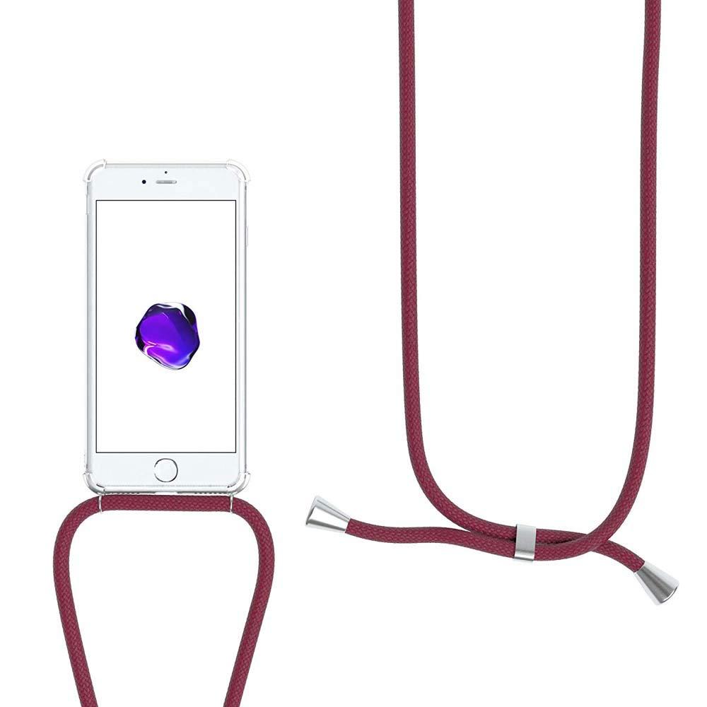 Housse pour Smartphone Lanyard Case Holder /étui de t/él/éphone avec Cordon YuhooTech Collier pour iPhone XS Max Coque Tour de Cou Lani/ère en Corde Cover Necklace Bandouili/ère Styl/ée