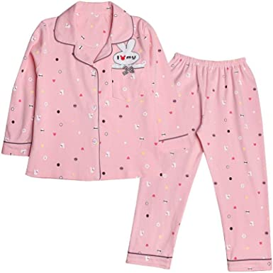 Pijama Infantil Lenth Full Pijamas Conejo Bordado para niñas Ropa de Dormir de algodón Conjunto de Dos Piezas Regalos Maravillosos: Amazon.es: Ropa y accesorios