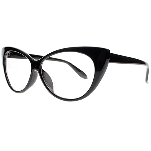 dfbddbcfd5e Women Magnification Stylish Vintage Cat Eye Tortoise Reading Glasses  Readers (Black