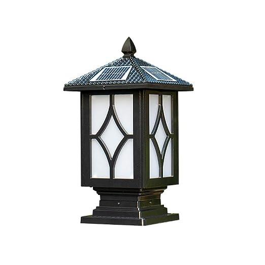 Lifex Impermeabile Ip65 Outdoor Solar Post Light Nero Antico