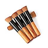 EYX Formula 5Pcs Pro Foundation Face Powder Brush Blush Makeup Cosmetic Tool,Portable Oblique Head Cosmetic Brush with Creanm BB For Face Painting offers