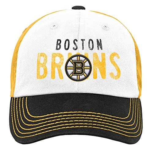 - Outerstuff NHL NHL Boston Bruins Youth Girls Retro Colorblock Structured Hat, Black, Youth One Size