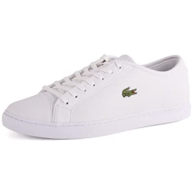 179236b224d3d Lacoste Showcourt Nal Mens Leather Trainers White White - 8 UK   Amazon.co.uk  Shoes   Bags