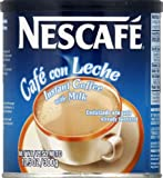 Nescafe Cafe con Leche, 10.5-Ounce Canisters (Pack of 4)