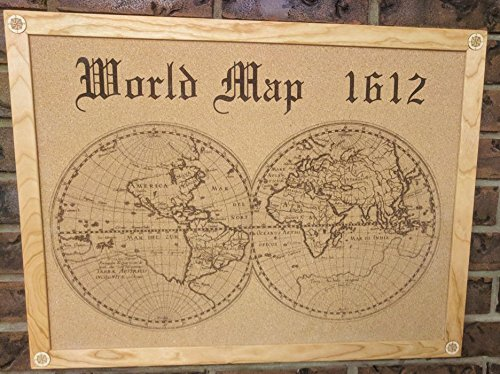 1612 world map cork board amazon handmade 1612 world map cork board gumiabroncs Images