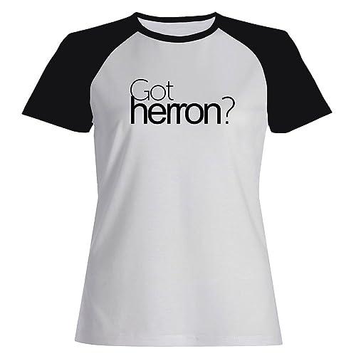 Idakoos Got Herron? - Cognomi - Maglietta Raglan Donna