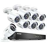 ANNKE 16CH HD 1080P Security Camera System 4K DVR Recorder and (8) 2.0MP 1920TVL Weatherproof Bullet Camera, Email Alert with Snapshots, 100ft night vision, NO HDD
