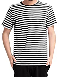 "<span class=""a-offscreen"">[Sponsored]</span>Men's Vogue Short Sleeve Design Top Shirts Sailor Stripes"