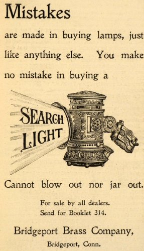 1898 Ad Bridgeport Brass Co. Lighting Lamps Connecticut - Original Print Ad from PeriodPaper LLC-Collectible Original Print Archive