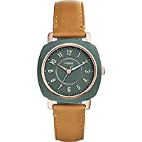 Fossil Idealist Three-Hand Tan Leather Watch